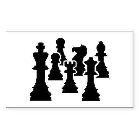 Chess Chessmen Sticker (Rectangle)