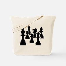 Chess Chessmen Tote Bag