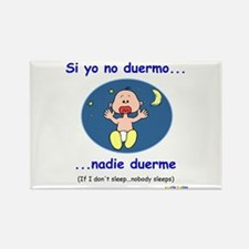 If I Don't Sleep... (Spanish) Rectangle Magnet
