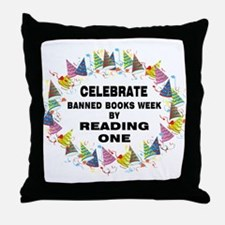 Banned Books Week Throw Pillow