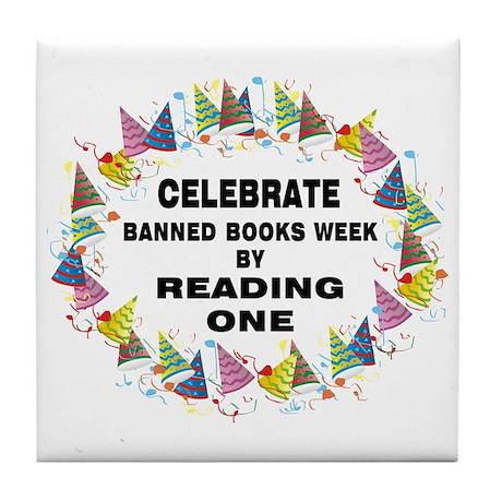 Banned Books Week Tile Coaster