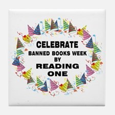Banned Books Week Tile Coaster