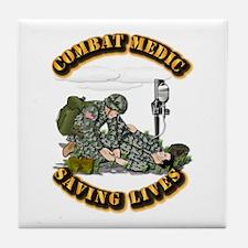 Combat Medic - Saving Lives Tile Coaster