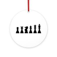 Evolution chess Ornament (Round)