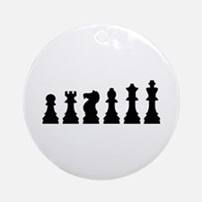 Evolution chess Ornament (Round)