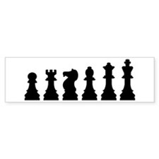 Evolution chess Bumper Sticker