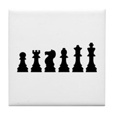 Evolution chess Tile Coaster