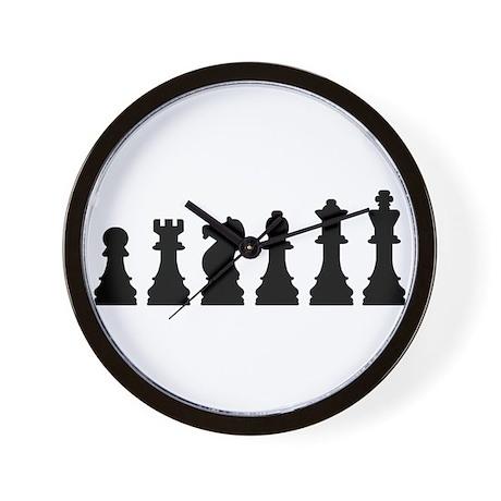 Evolution chess Wall Clock