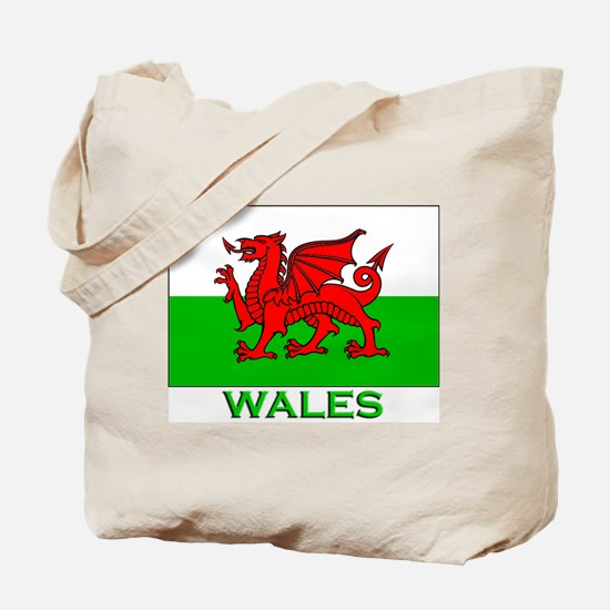 Wales Flag Stuff Tote Bag