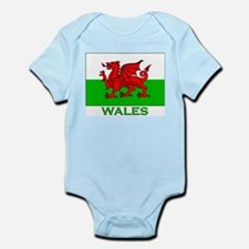 Wales Flag Stuff Infant Creeper