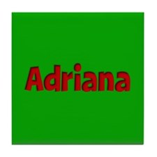 Adriana Green and Red Tile Coaster
