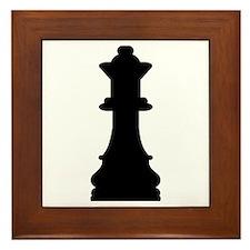 Chess queen Framed Tile
