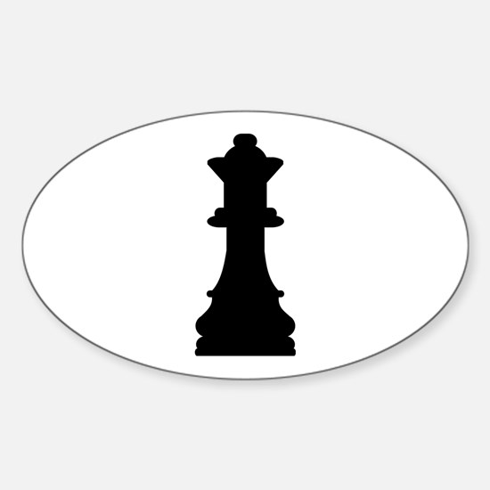 Chess queen Sticker (Oval)