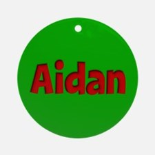 Aidan Green and Red Ornament (Round)