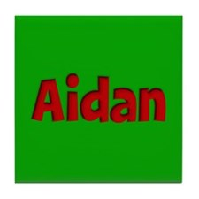 Aidan Green and Red Tile Coaster