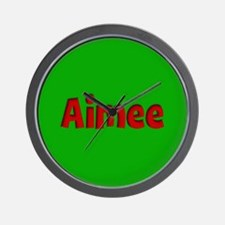 Aimee Green and Red Wall Clock