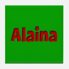 Alaina Green and Red Tile Coaster
