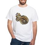 Gold Norse Dragon White T-Shirt