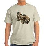 Gold Norse Dragon Light T-Shirt