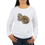 Gold Norse Dragon Women's Long Sleeve T-Shirt