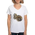 Gold Norse Dragon Women's V-Neck T-Shirt