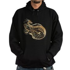 Gold Norse Dragon Hoodie