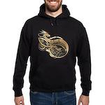 Gold Norse Dragon Hoodie (dark)