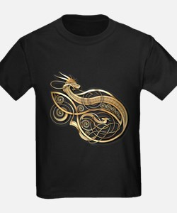 Gold Norse Dragon T