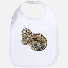 Gold Norse Dragon Bib