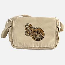 Gold Norse Dragon Messenger Bag