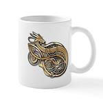 Gold Norse Dragon Mug