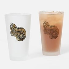 Gold Norse Dragon Drinking Glass
