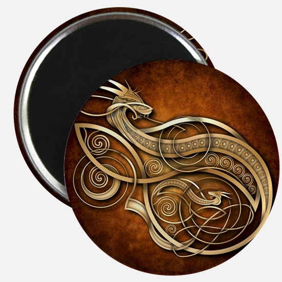 Gold Norse Dragon Magnet