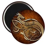 """Gold Norse Dragon 2.25"""" Magnet (10 pack)"""