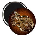 """Gold Norse Dragon 2.25"""" Magnet (100 pack)"""