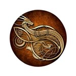 """Gold Norse Dragon 3.5"""" Button (100 pack)"""