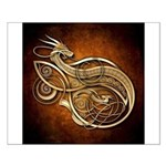 Gold Norse Dragon Small Poster