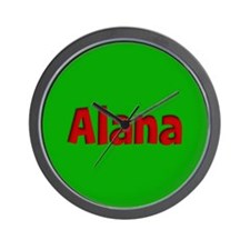 Alana Green and Red Wall Clock