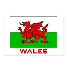 Wales Flag Gear Postcards (Package of 8)