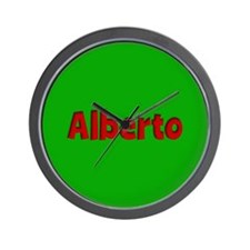Alberto Green and Red Wall Clock