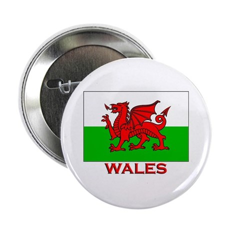 Wales Flag Gear Button