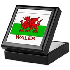Wales Flag Gear Keepsake Box