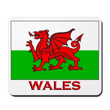 Wales Flag Gear Mousepad