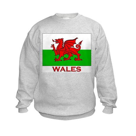 Wales Flag Gear Kids Sweatshirt