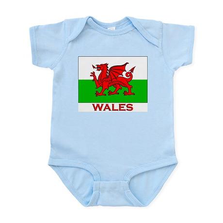 Wales Flag Gear Infant Creeper