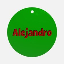 Alejandro Green and Red Ornament (Round)