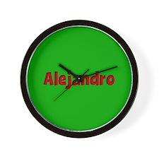 Alejandro Green and Red Wall Clock