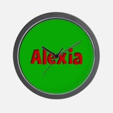 Alexia Green and Red Wall Clock