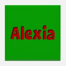 Alexia Green and Red Tile Coaster