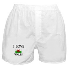 I Love Wales Boxer Shorts
